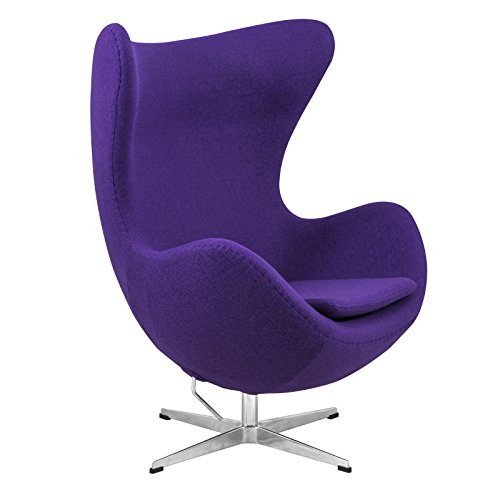 Exceptional Amazon.com: LeisureMod Modena Mid Century Fabric Accent Egg Chair With  Tilt Lock Mechanism In Purple Wool: Kitchen U0026 Dining
