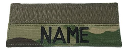 MULTICAM OCP Name Tape or US Army Tape, with Fastener or Sew-On (With Fastener)