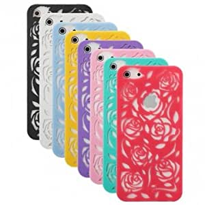 Hollowed Out Flowers Pattern Hard Back Case Cover For iPhone 5 --- Color:Pink