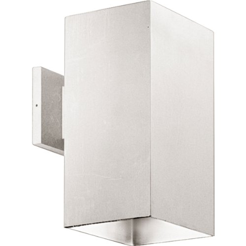 Progress Lighting P5643-30 6-Inch Square with Heavy Duty Aluminum Construction and Die Cast Wall Bracket Powder Coated Finish, White (Mount Contemporary Wall Bracket)