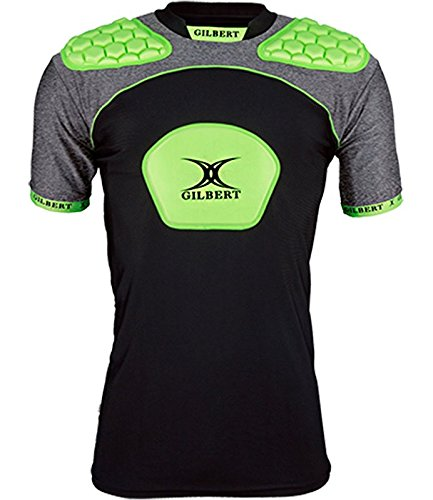 Gilbert Atomic V3 Body Armour Rugby Vest - Youth - Black/Volt - Youth Medium Atomic Rugby Body Armour