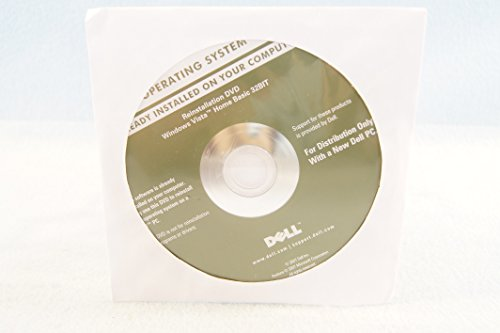 Dell Operating System Reinstallation DVD Driver Windows Vista Home Basic 32 Bit PC Software Program Installation Disc Year 2007 Part Number HX249-Sealed New (Installation Dvd Windows Vista)