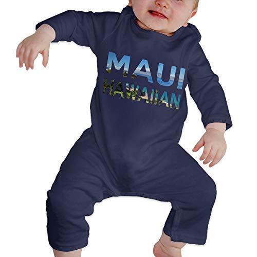 Mri-le1 Baby Boy Jumpsuit Maui Hawaiian Infant Long Sleeve Romper Jumpsuit Navy (Furniture Maui Stores)