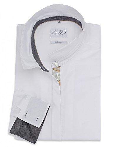byMi - Camisas - Túnica - Básico - Manga Larga - para mujer Weiß