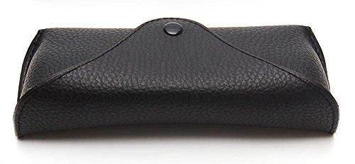 Funnuf Beltloop Vintage Sunglasses Case Litchi Leather Belt Case Retro Glasses Pouch Eyewear Case black by Funnuf (Image #2)