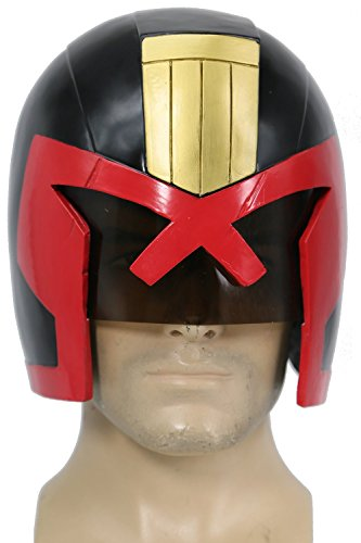 XCOSER Judge Dredd Helmet Mask Costume Props Accessories for Halloween Cosplay