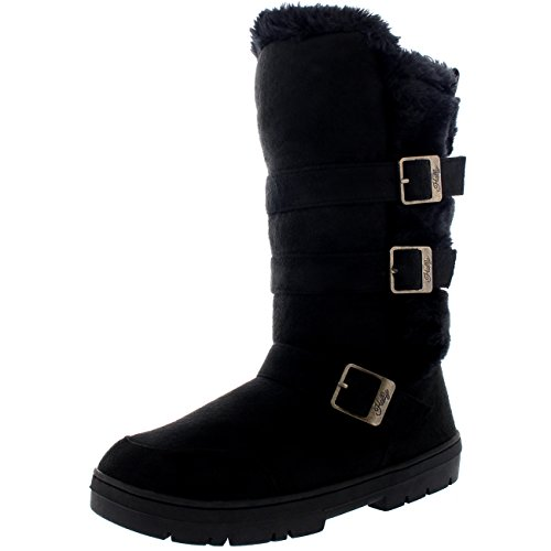 Womens Waterproof Winter Triple Buckle