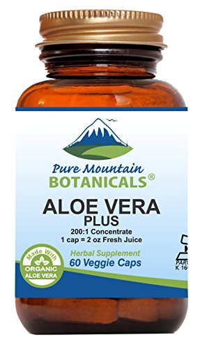 Aloe Vera Gel Softgel Capsules - Aloe Vera Plus Capsules. 200:1 Extract. Kosher Organic Dried Aloe Vera Gel, Marshmallow Root, Slippery Elm