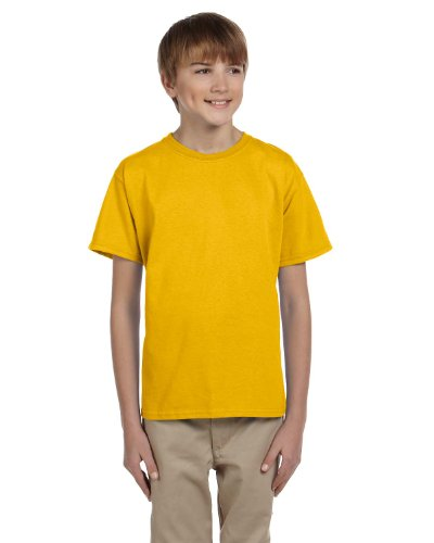 Jerzees Boys HiDENSI-T T-Shirt(363B)-Gold-XS