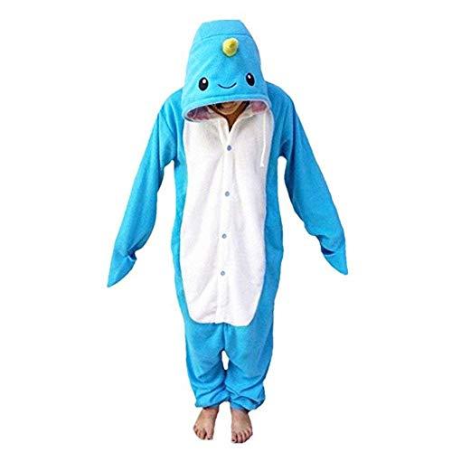 Women's Sleepwear Unisex Adult Narwhal Onesie Animal Cosplay Costume Pajamas Christmas Costume (Size M for 62-66