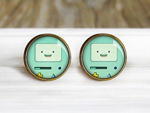 Adventure Time Beemo Costume (Robot Earrings - Hypoallergenic Earrings for Sensitive Ears)