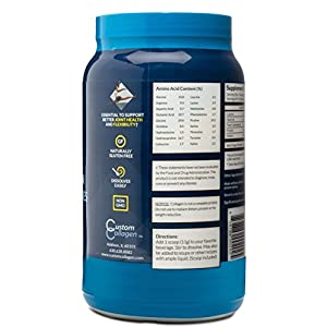 Collagen Peptides Powder 2lb (32oz) Jar - CLEAN COLLAGEN® -Grass Fed - Paleo - Non GMO - High Protein - Highly Soluble - Unflavored Powder