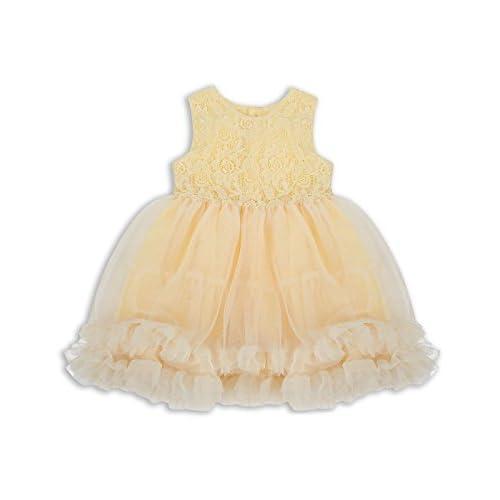 The Essential One - Bébé Enfant Fille Robe en Lace - Jaune - EOT386 ... 4bc4b08218b