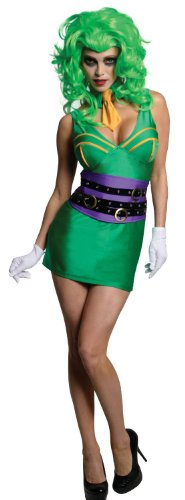 Secret Wishes DC Comics Super Villain Joker Costume, Green, X-Small