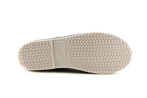Avanti Pluie Pluie Boot Imperméable À Leau Avec Manchette Tricotée Amovible Monogramme-pliable Marine Et Crème