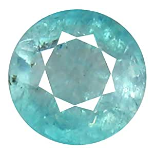 Deluxe Gems 0.71 ct Round Cut (6 x 6 mm) Unheated/Untreated Greenish Blue Grandidierite Natural Gemstone