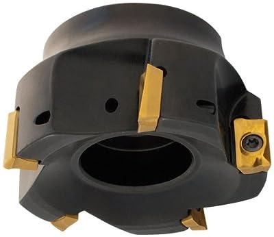 "Dorian Tool E90A Indexable Positive Face Mill Insert Holder, 8 Flutes, 90 Degree, 1-3/4"" Overall Length, 1"" Shank Diameter, 2-1/2"" Mill Diameter"