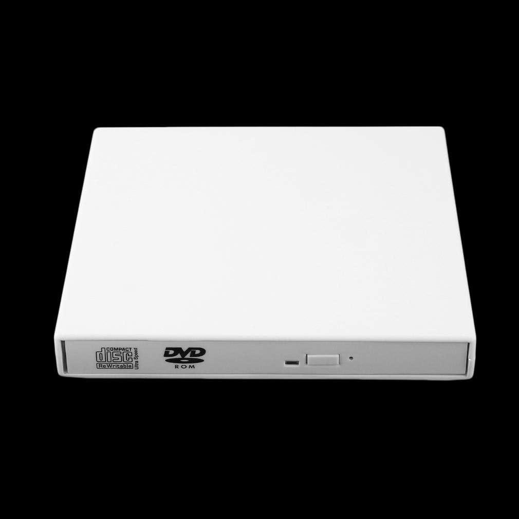 Usb White External Combo Optical Drive Cd//Dvd Player Cd Burner For Pc Laptop Win 7 8 BoMiVa