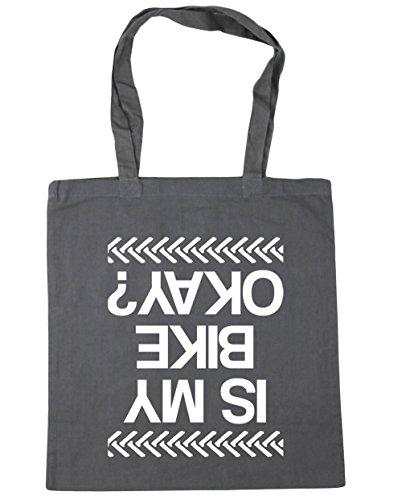 Hippowarehouse È La Mia Moto Ok? Shopping Bag Borsa Da Spiaggia Fitness 42cm X38cm, 10 Litri - Grigio Grafite, Taglia Unica