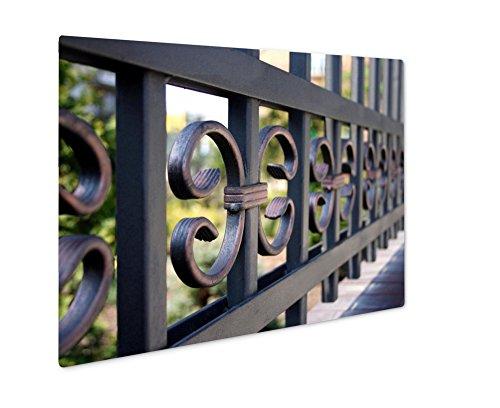 Ashley Giclee Metal Panel Print, Metal Fence Closeup, 16x20