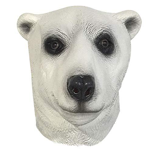 Latex Polar Bear Mask Headgear Halloween Party Costume Decorative Mask -