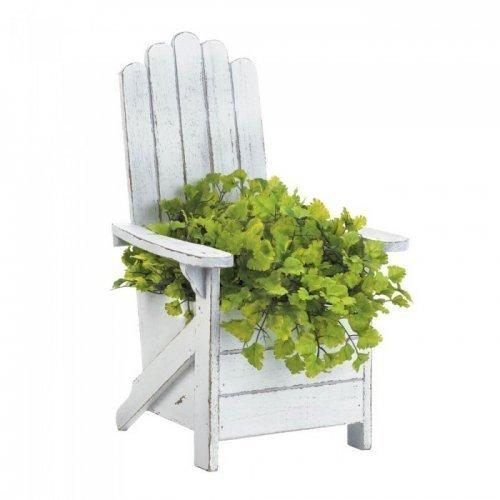 (Summerfield Terrace White Adirondack Chair Planter)