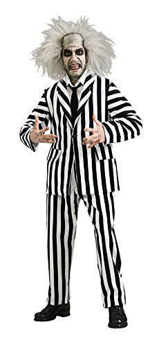 UHC Men's Deluxe Beetlejuice Suit Grand Heritage Theme Party Costume, XL (44-46) (Beetlejuice Plus Size Adult Mens Costume)