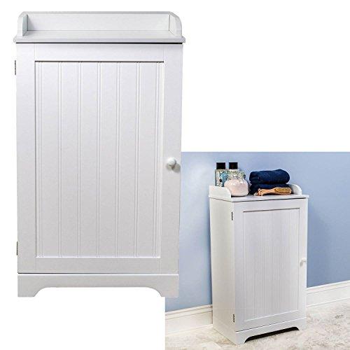 "WholesalePlumbing 17.5"" Wide Space Saver Bathroom Kitchen Storage Cabinet - White"