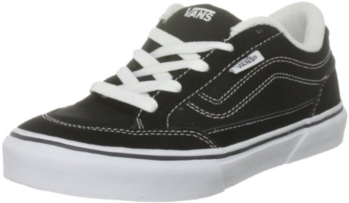 Image of Vans Boy's Bearcat (S11) Black/White Skateboarding Shoe VN000DT04FQ (US 12.5c)