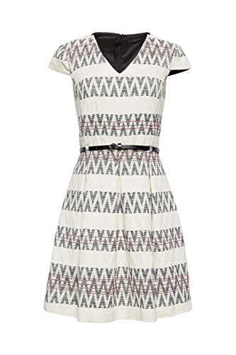 Weiß ESPRIT Damen White 110 Off Collection Kleid q44C0Sw