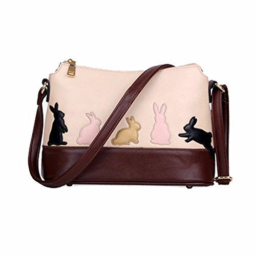 al Bolso Blanco Mujer Bags Small Blanco Crossbody showsing para Conejo Hombro Conejo RFqxtfBwn
