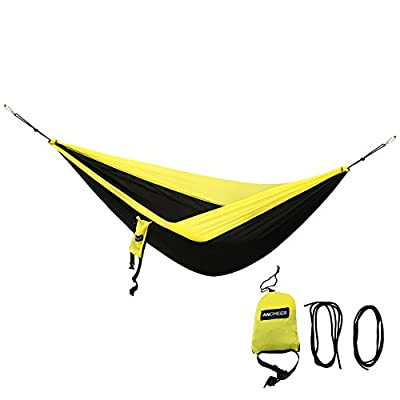 Ancheer 350lbs Outdoor Nylon Camping Hammock with tree straps Lightweight, Compact & Portable for Camping, Hiking, Backyard Lounging