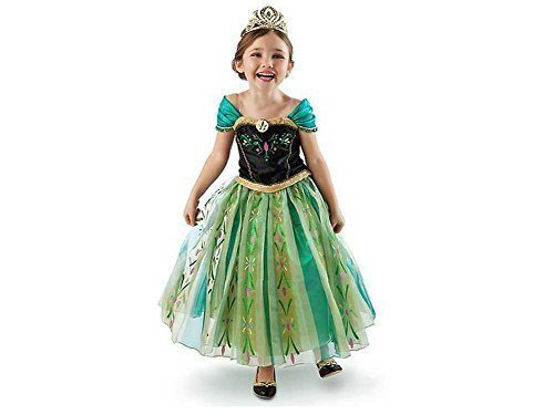 Anna  (Anna Frozen Green Dress Costume)