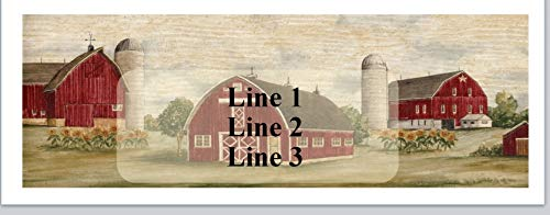 150 Personalized Return Address Labels Country Scene Barn Silos Farm (jx 14)