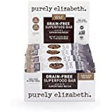 purely elizabeth Grain Free Superfood Granola Bar with Reishi, Chocolate Sea Salt, 12 Count