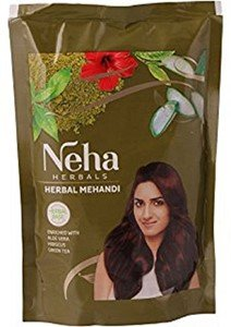 Neha Herbal Mehndi 100% Pure & Natural Henna Mehandi Powder Guaranteed (140 Gm/Pack)