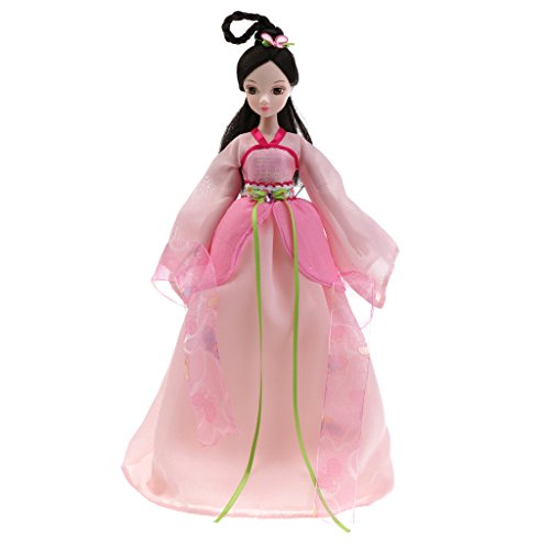 Jili Online 28cm Flexible 10 Joints Fashion Chinese Style Costume Vinyl Kurhn Doll Making Posture Kids Toy Home Decoration Pink Fairy