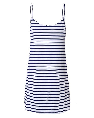 ZANZEA Mini Vestidos Camisón Atractivo Picardía de Satén Pijama de Dormir Para Mujer Playa Raya