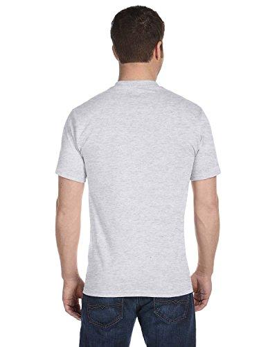 Hanes mens 5.2 oz. ComfortSoft Cotton T-Shirt(5280)-ASH-L-5PK - Ash Grey T-shirt Others