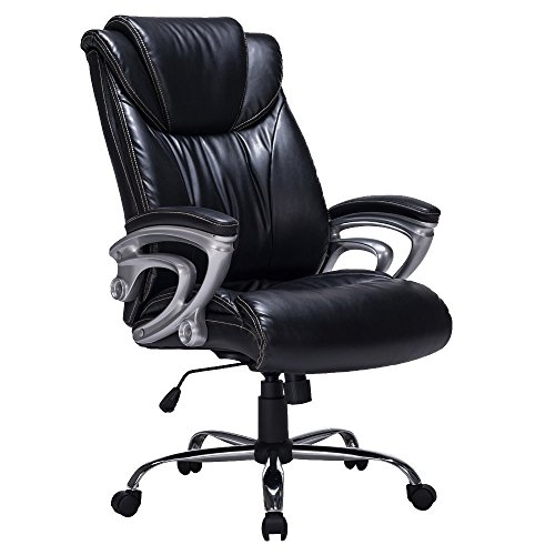 viva-office-recliner-bonded-leather-office-chair-thick-padded-executive-chair-black