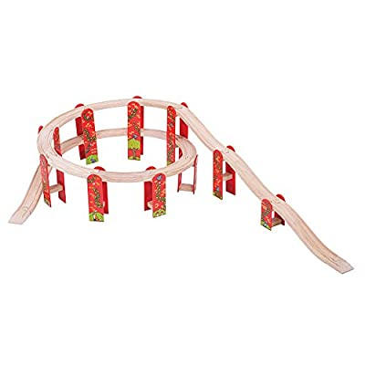 Bigjigs Rail Wooden High Level Track Expansion Pack - 27 Pieces - Other Major Rail Brands are Compatible: Toys & Games