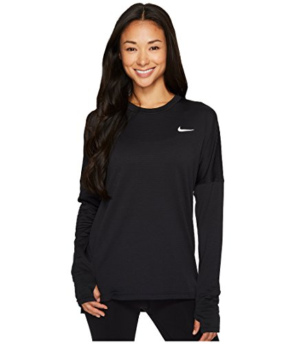 Nike Women's Therma Sphere Element Long Sleeve Running Top (Small) Black