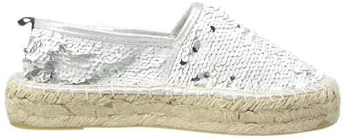 California Donna Espadrille Espadrillas In Whi Sequins Of white Weiß Double Sole Colours UHwqSx58On