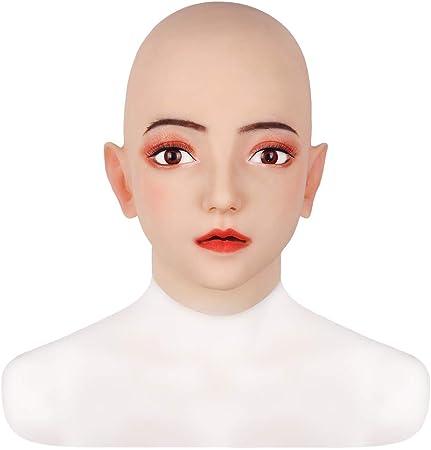 Máscara de Cabeza de Silicona Hecha a Mano para Disfraz de Mujer ...