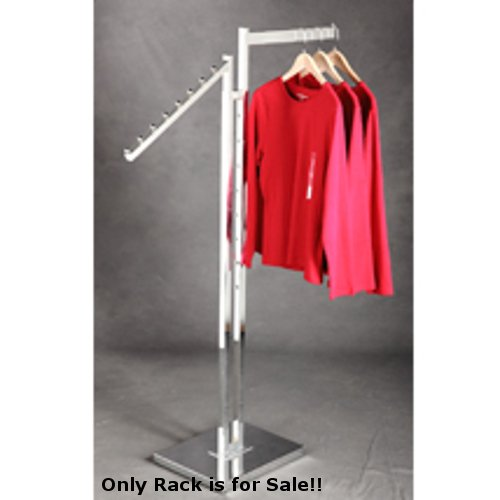 - Retails Chrome 2 Way Rack with 1 Straight & 1 Slant Arm 2 in. W x 15 in. D