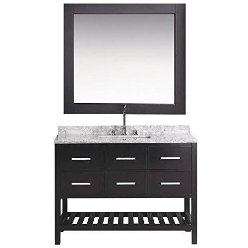 Design Element DEC077D-48 London Single Sink Vanity Set, 48-Inch, Espresso Finish