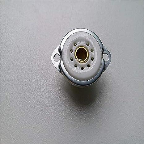 Davitu 8pcs ceramic tube socket Small 9 pin tube socket GZC9