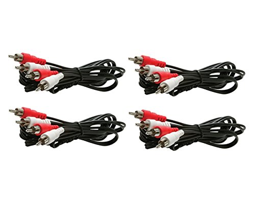 (CNE429620 6-Feet 2-RCA Stereo Audio Patch Cord, 4-Pack)