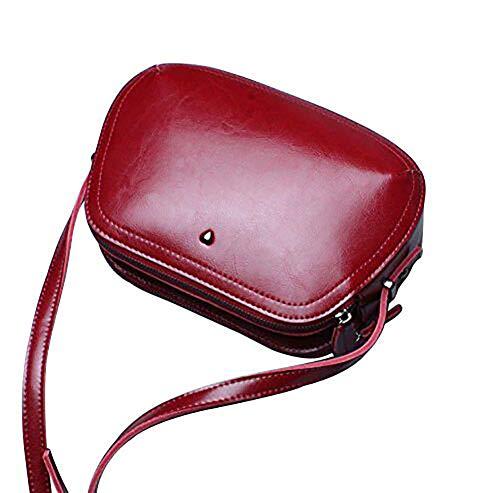 con Borsa Luufan a cerniera tracolla per in regolabile pelle regolabile Borsa donna a vintage blu rossa tracolla OAOYqwnr