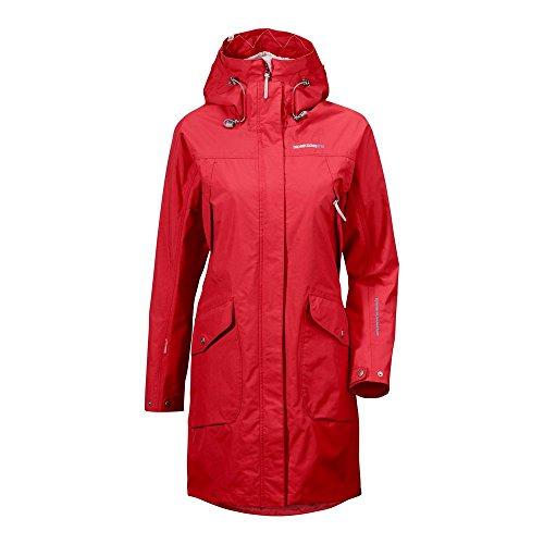 Rrp Womens Didriksons Waterproof Coat Red £170 040 Thelma IfFdI